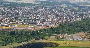 موقعیت جغرافیایی شهرستان شمگین شهر